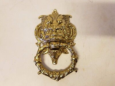 North Wind Face Brass Old Man Weather Door Knocker