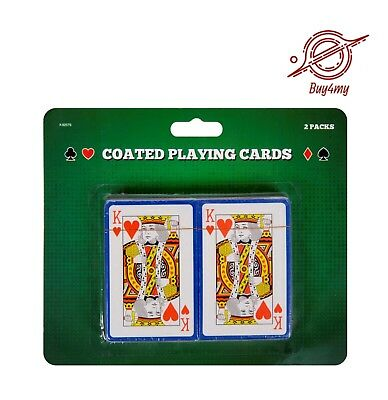 Pack of 2 Professional Plastic Coated Playing Cards Poker Deck NEW