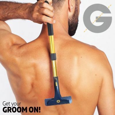 Groomarang Back Body Hair Removal Shaver Razor Big Blade Hairy Remover Mens Gift