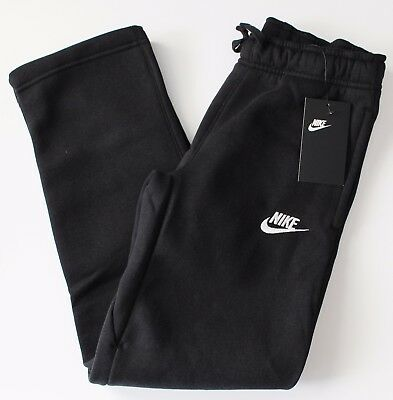 Nike Sportswear Youth Boys Fleece Sweat Pants 805496 011 Black M L