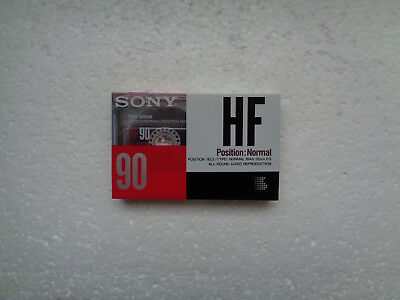 Vintage Audio Cassette SONY HF 90 * Rare From France 1990 *