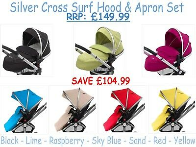 Silver Cross Surf Hood and Apron Set - RRP: £149.99