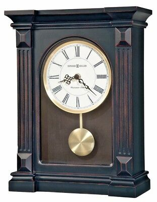 Howard Miller 635-187 Mia Mantel - Black Finish with Westminster Chime 635187