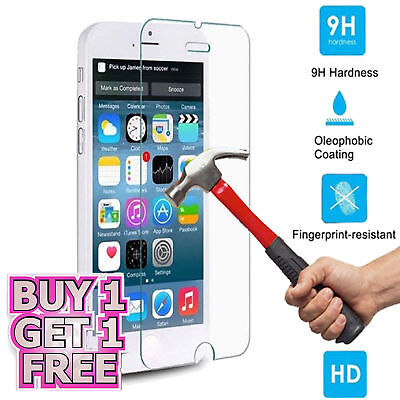 2 xGenuine Tempered Glass Screen Protector Guard For Apple iPhone Various Models