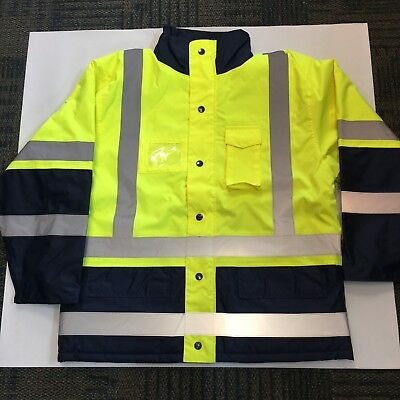 Reflective Safety Jacket Lime/silver Medium And Large (New)-December Sale