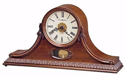Howard Miller 635-144 Andrea - Traditional Cherry Mantel Clock with Pendulum