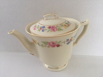 Syracuse China CLIFTONDALE Old Ivory Multicolor Flowers - TEAPOT & LID