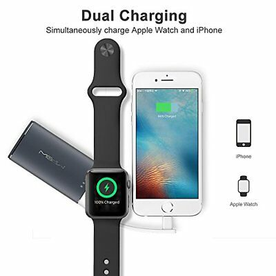 Apple iPhone / Watch Wireless Charging Dock Station Portable Power Bank Gray