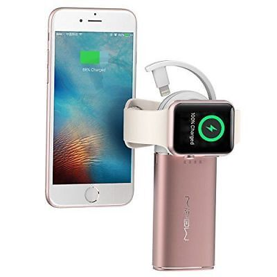 Apple iPhone / Watch Wireless Charging Dock Station Portable Power Bank Rose