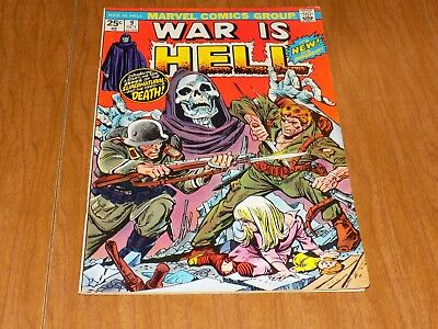 War Is Hell #9 - Intro DEATH into the Mavel Universe, HARD TO FIND SKULL COVER!