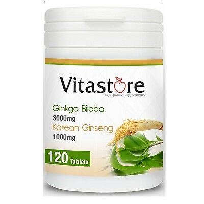 """Ginkgo Biloba"" 3000mg & Korean Ginseng 1000mg, Buy one get one free,"