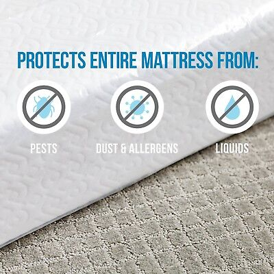 New Waterproof Bed Cover King Size Fitted Sheet Plastic Mattress Best Protector