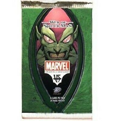 marvel vs system web of spiderman booster packs x8