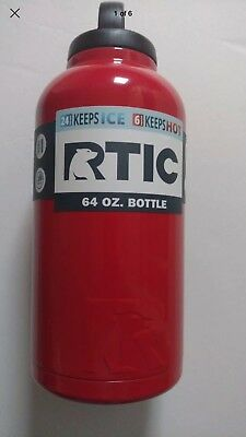 31498c6c48b RTIC 64 OZ Red Stainless Steel Insulated Bottle New In Box - $29.99 ...