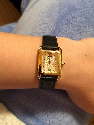 d5277d03a462 Pierre Balmain 3010 Ladies Watch Stainless Steel Gold Color Black Leather  Strap