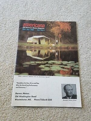 American Motors Americana Magazine Mar./ Apr. 1966 issue VOL 1 NO. 4