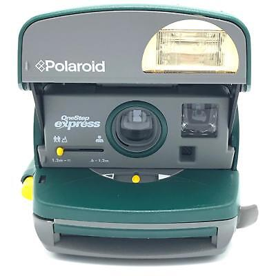 Vintage Polaroid One Step 600 Express Green UK Made Broken Strap - Tested