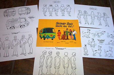 SCOOBY DOO WHERE ARE YOU ANIMATOR MODEL SHEETS HANNA BARBERA Art Reference Guide