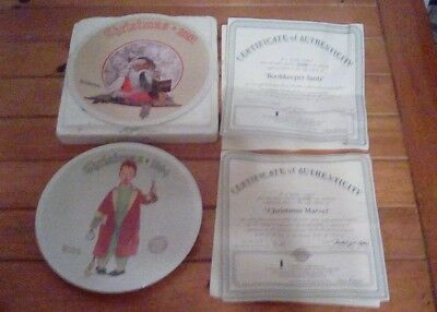 Norman Rockwell Christmas plates Lot of 10