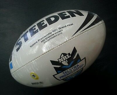 Steeden NRL Grand Final 2012 Rugby League Replica Ball Melbourne Storm *NEW*
