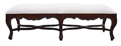*WAREHOUSE SALE* French Provincial Bed End Bench for Queen or King Bed Wood