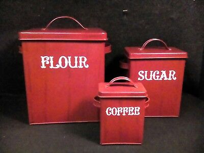 primitive vintage antique style kitchen canisters storage decoration country old