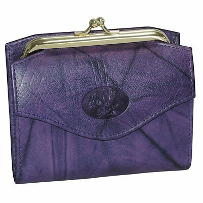 New Womens Leather Buxton Heiress French Purse Multiple Card Slots Wallet