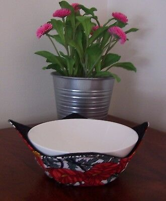 Hot Bowl Holder/Bowl Cozy Small 100% Cotton  - Handmade/Microwave Suitable
