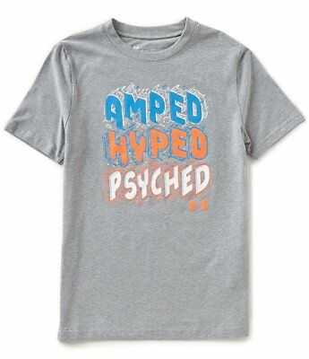 Under Armour Big Boys Amped Hyped Psyched Crew Neck Short-Sleeve Tee 3T