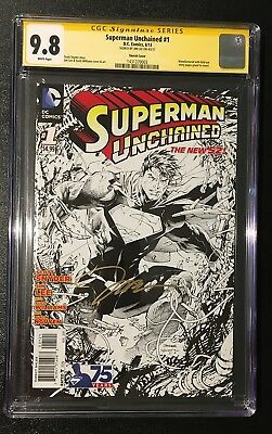 Superman Unchained 1 Sketch Jim Lee 1 In 300 Variant Signed Cgc 9.8 Not Pgx Cbcs