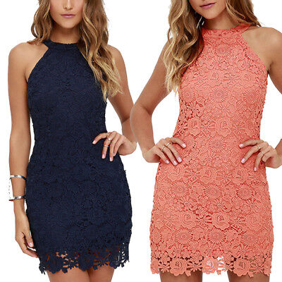 2018 New Hot Plus Size Women Sexy Embroidery Lace Maxi Dress Beach Short Dresses