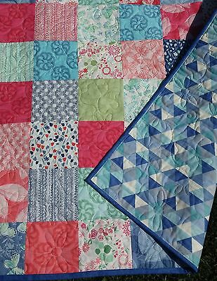 Handmade quilt Aria by Kate Spain - lap  Baby Quilt, throw, blanket