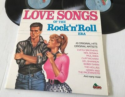LOVE SONGS OF THE ROCK 'n' ROLL ERA - Various Artists - Vinyl Double Lp Album