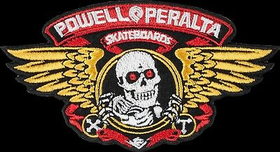 "POWELL PERALTA WINGED RIPPER PATCH for your jumper jacket hat NEW! 5"" LARGE SIZE"