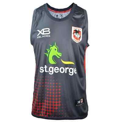 St George Dragons 2018 NRL Nine Iron Training Singlet Sizes S-7XL