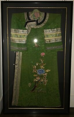 A framed and mounted Qing Dynasty Dress / Robe