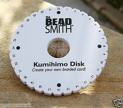 "The Bead Smith Kumihimo Round Braid disk 6"" inch for beading craft art brand new"