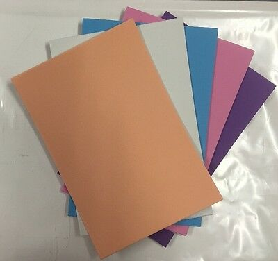 "5 PACK OF ""PASTELS"" SELF ADHESIVE FOAM SHEETS, 15.5cm x 23cm sheets"