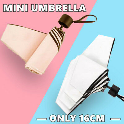 Mini Folding Lightweight Umbrella Compact Anti UV Rain Sun Parasol 5-Folding