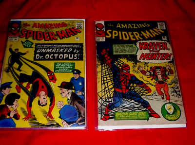 AMAZING SPIDER-MAN # 12#15# dOCTOR OCTOPUS AND KRAVEN THE HUNTER VG COPIES