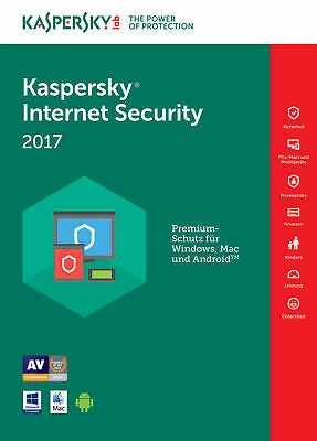 Kaspersky Internet Security 2017 multi-device 3PC / 1Jahr | Download | Deutsch