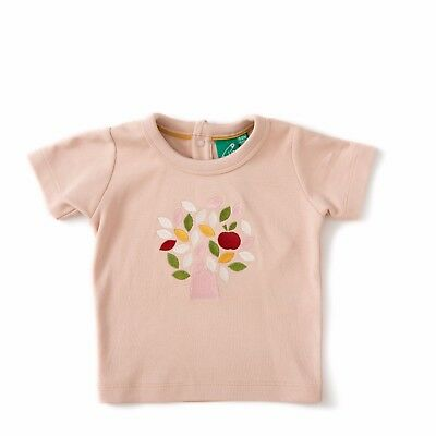 Little Green Radicals PINK apple tree t shirt top Organic Cotton 3 6 Organic LGR
