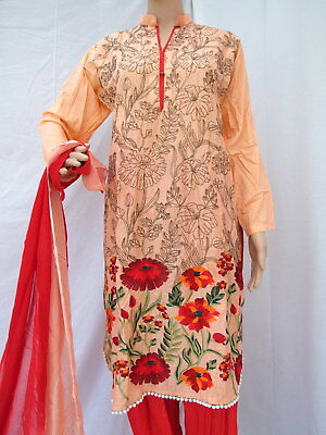 Indian Pakistani Readymade Shalwar Kameez with Embroidery - Large Size
