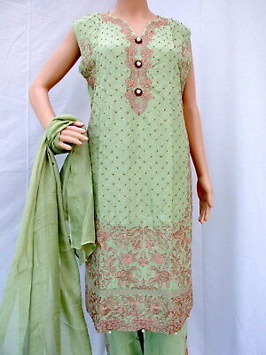 Indian Pakistani Salwar Kameez Ready to wear 3 Piece Suit - Large