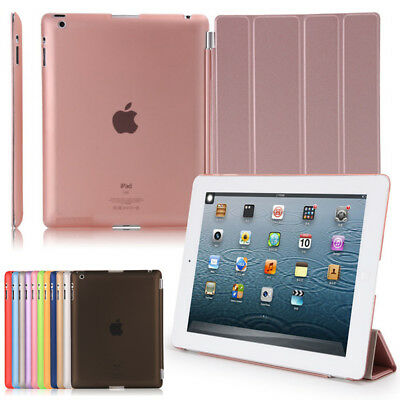 Smart Magnetic Leather Stand Auto SLEEP/WAKE Case Cover For APPLE iPad Models
