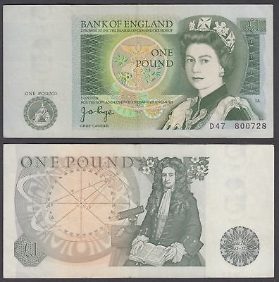 Great Britain 1 Pound 1978-80 (VF-XF) Condition Banknote P-377a QEII