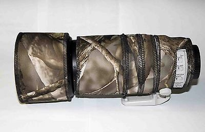 Canon 100 400mm IS Mk2 Neoprene Lens Protection Camouflage plus zoom tube cover