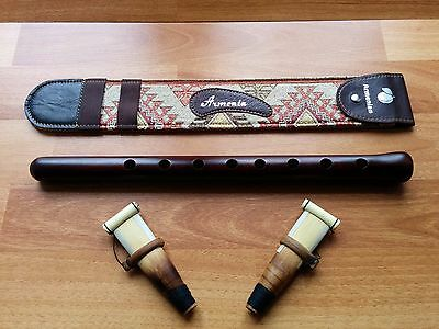 Armenian Duduk Professional from Apricot wood, 2 Reeds and National Leather Case