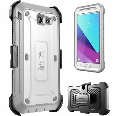 Samsung Galaxy J7 Prime 2017 Case Belt Clip Holster W/ Built-in Screen Protector