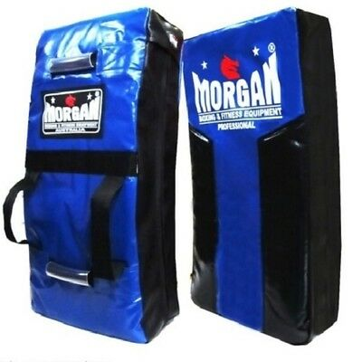 Morgan Blue/ Black Heavy Duty Strike Shield Boxing Kick Pad Rugby Muay Thai CSW